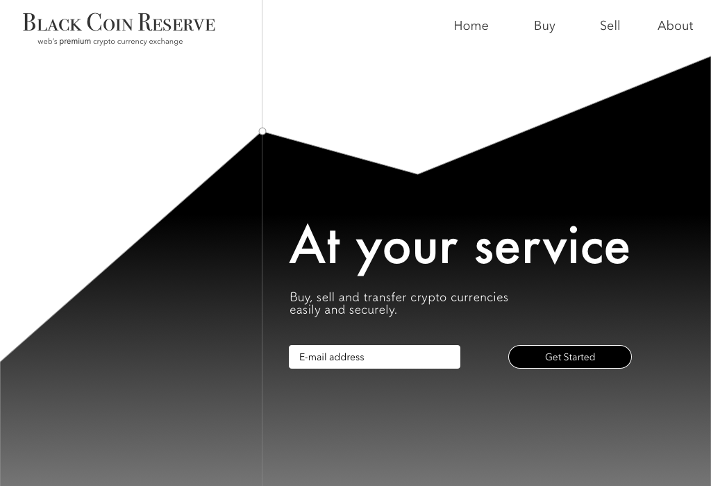 Daily UI - 003 - Landing page for BlackCoin